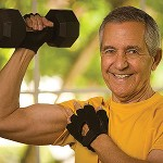 picture of older man working out