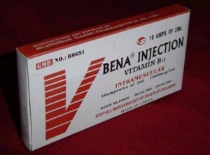 B12 injection vial